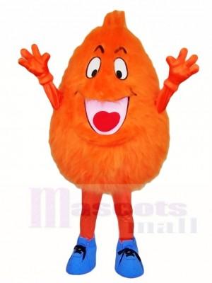 Flauschige Orange Monster Maskottchen Kostüme