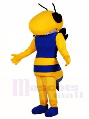 Königsblau und Gelb Hornet Bee Maskottchen Kostüme Insekt