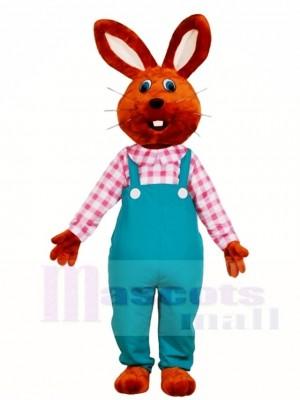Schokoladen Kaninchen im Overall Maskottchen kostüm Osterhasen Tier