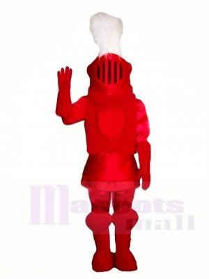 rot Ritter Maskottchen Kostüme Menschen