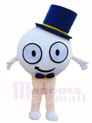 Golfball mit Hut Maskottchen Kostümen Sport
