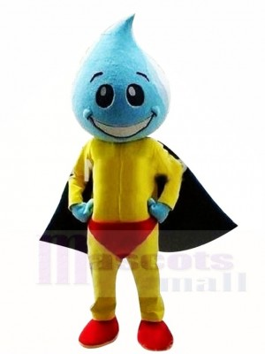 Wasser Tröpfchen Superman Maskottchen Kostüme