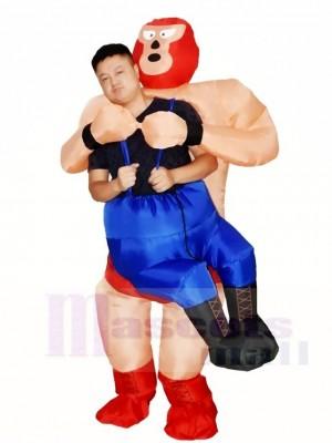 Wrestler Wrestling aufblasbares Halloween Kostüme sprengen für Erwachsene