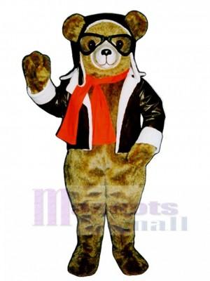 Neue rote Bäron Bär Maskottchen kostüm