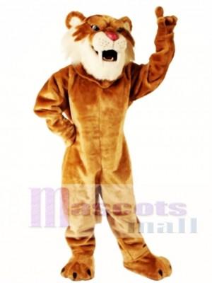 Nettes Säbelzahn Tiger Maskottchen Kostüm