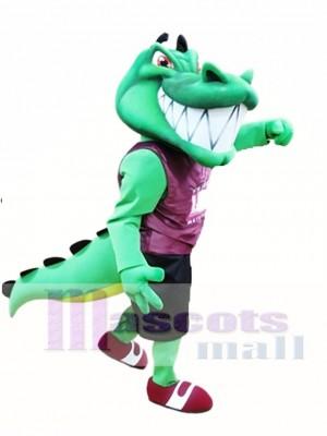 Krokodil Maskottchen Kostüm grün Alligator Maskottchen Kostüme Erwachsene