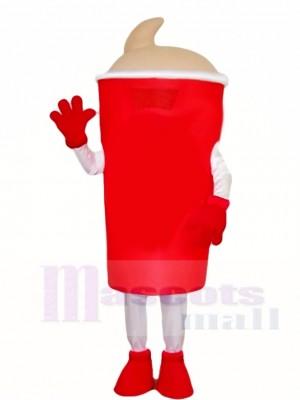 Rotes Wasser Flasche Maskottchen Kostüme Getränke