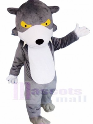 Grauer Wolf Maskottchen Kostüme Tier