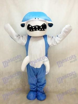 Blaues Hammerhai Hai Maskottchen Kostüm Ozean