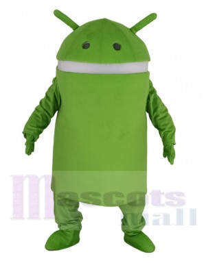 Green Android Robot Mascot Costume
