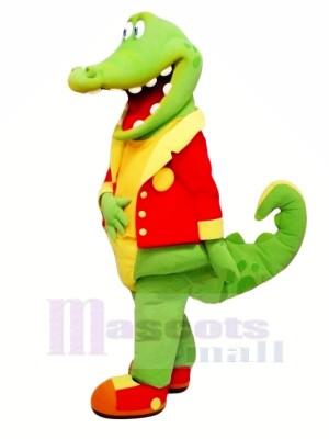 glücklich Alligator im rot Maskottchen Kostüme Billig