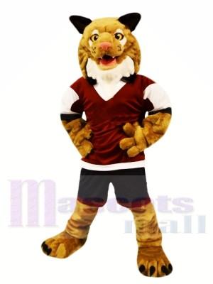 Stark Braun Wilde Katze Maskottchen Kostüme Tier