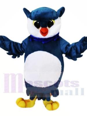 Blau und Weiß Eule Maskottchen Kostüme Tier