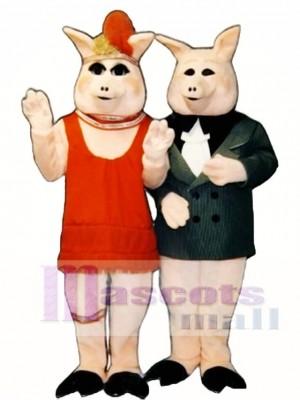 Süße Pfirsiche Schwein Maskottchen Kostüm
