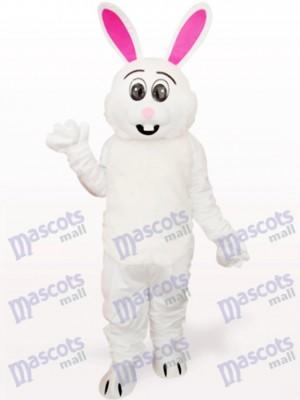 Ostern weißes Kaninchen mit rotem Ohr Tier Maskottchen Kostüm