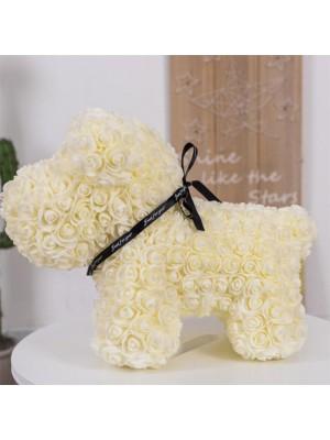 Beige Rose Hündchen Flower Hündchen Bestes Geschenk für Muttertag, Valentinstag, Jubiläum, Hochzeit und Geburtstag