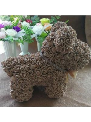 Braun Rose Hündchen Flower Hündchen Bestes Geschenk für Muttertag, Valentinstag, Jubiläum, Hochzeit und Geburtstag