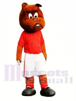 Nette Fußball Bulldogge Maskottchen Kostüm