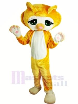 Gelb Katze Maskottchen Kostüme Karikatur