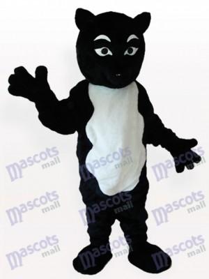 Schwarzen Skunk Erwachsenen Maskottchen kostüm