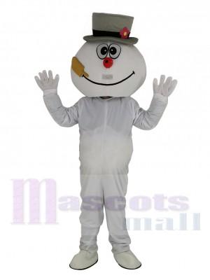 Hoch Qualität Eisig Schneemann Maskottchen Kostüm Karikatur