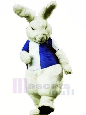 Heftig Weiß Hase Maskottchen Kostüme Karikatur