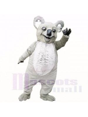 Lächelnd Grau Leicht Koala Maskottchen Kostüme Karikatur
