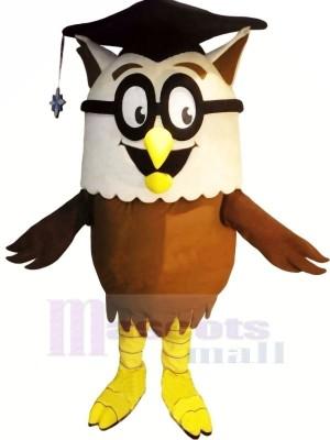 Gelehrt Eule mit Brille Maskottchen Kostüme Tier