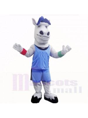 Sport Leicht Pferd mit Blau Hemd Maskottchen Kostüme Schule