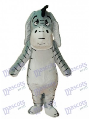 Light Grey Eeyore Mascot Adult Costume