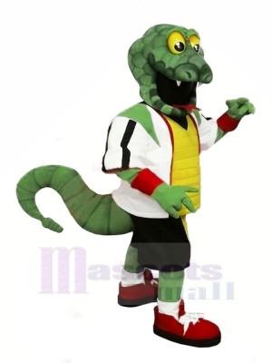 Stark Grün Schlange Maskottchen Kostüme Karikatur