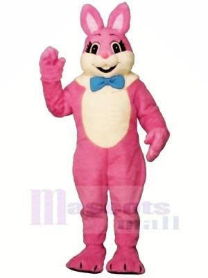 Rosa Lächelnd Hase Maskottchen Kostüme Billig