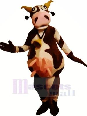 Lustig Braun und Weiß Kuh Maskottchen Kostüme Erwachsene