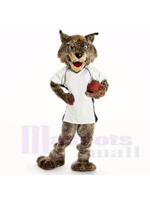 Sport Bobcats mit weißem Hemd Maskottchen Kostüme College