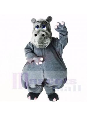 Grau Leicht Nilpferd Maskottchen Kostüme Karikatur