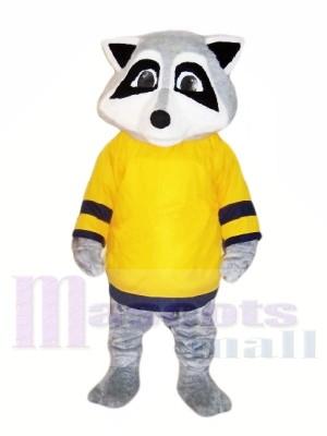 Süß Waschbär mit Gelb T-Shirt Maskottchen Kostüme Tier