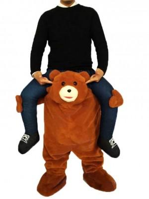 Piggyback Brown Bear Carry Me Fahrt auf Teddybär Maskottchen Kostüme chipmunks kostüm, huckepack kostüm selber machen