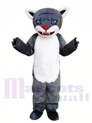 Grauer Cartoon Tiger Maskottchen Kostüm Kostenloser Versand
