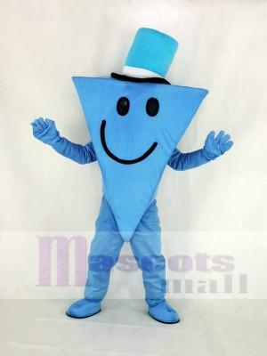Herr Cool mit Blau Hut Maskottchen Kostüm Karikatur