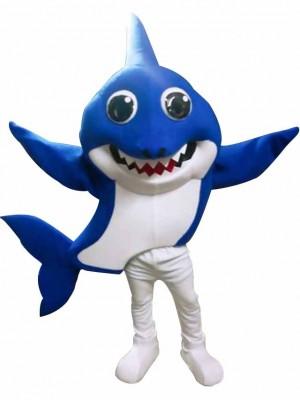 PinkFong Blau Vati Baby Hai Maskottchen Kostüme Meer Ozean Karikatur