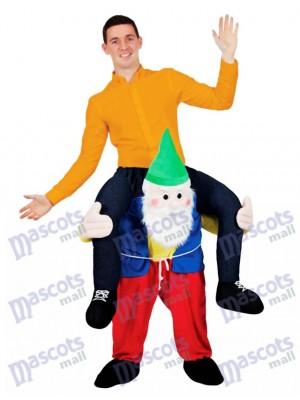 Zurück Schulter Garten Gnome Carry Me Maskottchen Fahrt Kostüm Hirsch Kostüm Weihnachten lustige Outfit