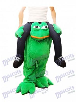 Piggy Back Frog Tragen Sie mich Traurig Frosch Maskottchen Kostüm Halloween Abendkleid