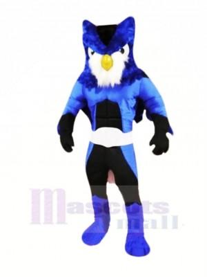 Held Blau Eule Maskottchen Kostüme Karikatur