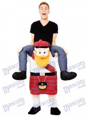 Schweinchen zurück Scotsman Carry Me Scottish Maskottchen Kostüme chipmunks kostüm, huckepack kostüm selber machen