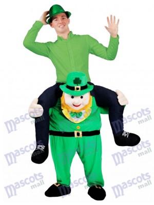 Piggy Back Kostüm Irish tragen mich Leprechaun Maskottchen Kostüm St Patricks Day Fancy Dress