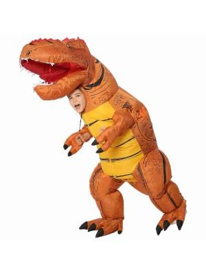 Braun T-Rex Dinosaurier Aufblasbar Kostüm Luft Schlag oben Party Passen zum Erwachsener/Kind
