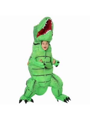 Grün T-Rex Dinosaurier Aufblasbar Kostüm Luft Schlag oben Party Passen zum Erwachsener/Kind