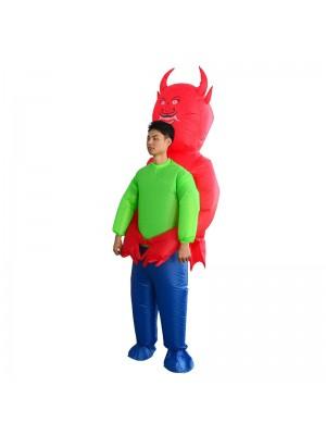 rot Teufel Dämon Monster Tragen mich Aufblasbar Kostüm Halloween Weihnachten Kostüm zum Erwachsene