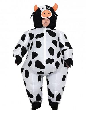 Kuh Milch Das Vieh Aufblasbar Kostüm Halloween Weihnachten Kostüm zum Erwachsener/Kind