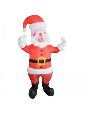 Santa Claus mit Gelb Gürtel Aufblasbar Kostüm Halloween Weihnachten Kostüm zum Erwachsene